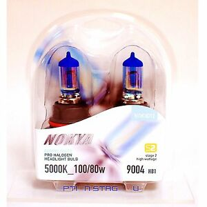 9004 Nokya Cosmic White S2 Low Beam Headlight Halogen Light Bulb 1 Pair NOK8012