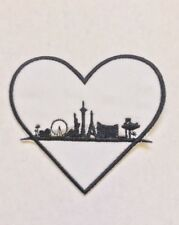 """Nevada Heart of the City """"Vegas Strong"""" Embroidered Gold and Black Iron On Patch"""