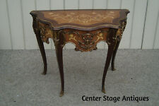 60934  Inlaid Satinwood  Console Table Stand w/ Bronze Ormalu