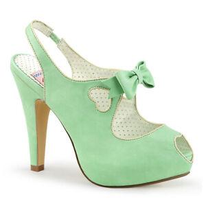 """PIN UP COUTURE Bettie-03 4 1/2"""" Heel Open Toe Platform Sandal"""