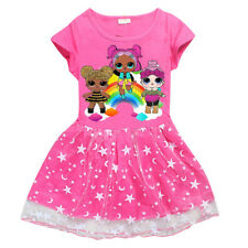 UK Kids LOL Surprise Dolls Game Girls Dresses Summer Casual T-Shirt Skirts Tops