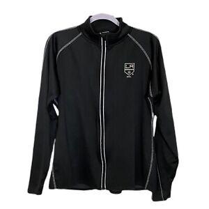 LA KINGS NHL Jacket Zip Front Logo Fleece Lined XL