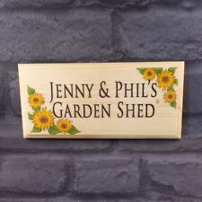 Personalised Sunflower Sign, Garden Plaque, House Nanny and Grandad Shed Gift