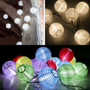 20 30 50 60 LED Solar Lampion Lichterkette Weihnachtsbaumkette für Party Garten