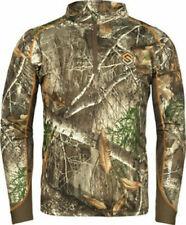 ScentLok Savanna Attack 1/4 Zip Shirt Realtree Edge - Mens Size Large