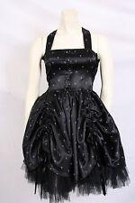 preowned HELL BUNNY Gothic DRESS - corset, cross, satin pouf skirt sz XS