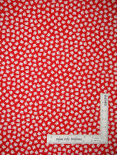 Mary Engelbreit Tea Cup Cotton Fabric Red White Cup Toss Tea Time QT - Yard