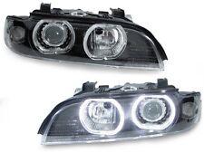 4 Xenon 97-00 BMW E39 5 Series V3 U-Ring LED Angel Halo D2S Headlight+Auto Level