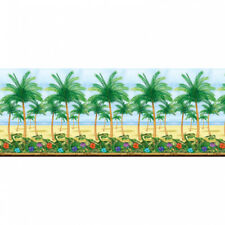 Palm Tree Party Wall Decoration Room Roll Scene Setter 40ft