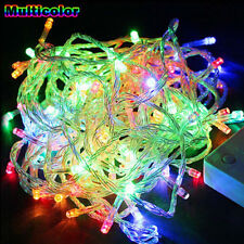 Colorful 10M 100LED Christmas Tree Fairy String Light Party Xmas Waterproof 110V