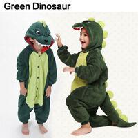 Kid Pajamas Kigurumi Cosplay Animal Onesie Sleepwear Dinosaur Slipper Halloween!