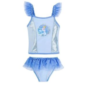 Disney Store Girls Cinderella Shimmering Blue and Silver Deluxe 2-Piece - NEW