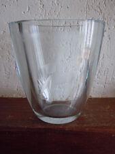 Vase verre décor biche cerf année 1970