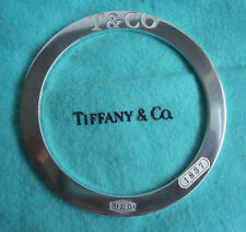 """TIFFANY & CO. STERLING SILVER """"1837"""" COLLECTION ROUND BANGLE!!!"""