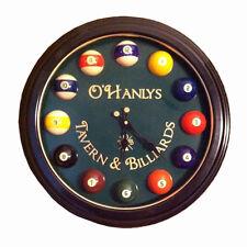 O'hanleys Taver & Billards Pool Ball Clock