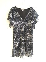 Women's Embellished Printed Plus Size Short Sleeve Tunic Top Blouse 1X-2X-3X NWT
