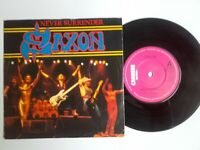 "EX/EX Saxon Never Surrender 1981 original 7"" Vinyl 45 Iron Maiden Motorhead"