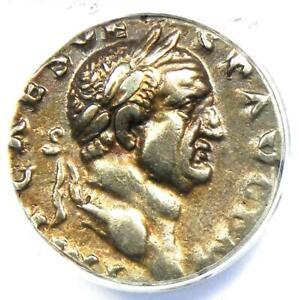 Roman Empire Vespasian AR Denarius Silver Coin 70-72 AD - Certified ANACS XF40