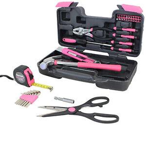 Werkzeugset Werkzeugkoffer Werkzeugkasten Werkzeugkiste 39 Tlg Pink