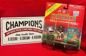 New 1998 Limited Edition Michael Irvin In The Trenches Headliners Action Figure