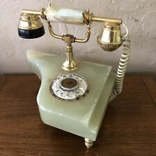 Vintage Alabaster Piano Phone Lamp Nightlight Antique Upcycled Repurposed