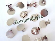 20 (10 pairs) Clip On Earrings 15mm Pad