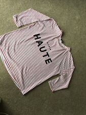 New Look Paris Slouch Top Over Sized Red White Stripy Uk 6 Fits Uk 8/10