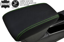 GREEN STITCHING LEATHER ARMREST COVER FITS VAUXHALL OPEL ASTRA K MK7 2016+