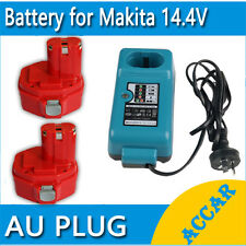 2X Batteries Charger For Makita 14.4V 3.0Ah Ni-MH 1430 1433 6228DW 4033D+charger