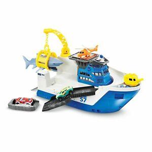 shark ship by  Mattel DVR60  Marine Rescue Shark Ship toy with matchbox cars