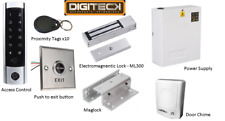 Complete access control kit proxy touch keypad mag-lock fobs chime