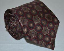 Christian Dior Neck Tie / Multicolor Geometric Sphere Print USA Made *Silk VTG