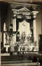 Cauganawaga Kahnawake Quebec Church Interior c1930 Real Photo Postcard #4