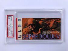 Super Bowl Ticket Stub V - 1971- RED VARIATION