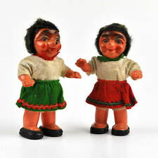 2 alte Mecki Igel Figuren - Kunststoff - Celluloid - Figur - Paar - 14,3cm