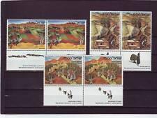 ISRAELE-sg837-839 Gomma integra, non linguellato 1982 ISRAELE ART-le coppie con schede
