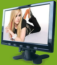 "HD 9"" Inch Ultra Thin TFT LCD Color Audio Video HDMI VGA HD Monitor w/Speaker US"