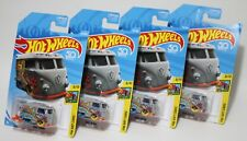 KOOL KOMBI * LOT OF 4 * 2018 HOT WHEELS * VOLKSWAGEN VAN VW BUS GREY HW ART CARS