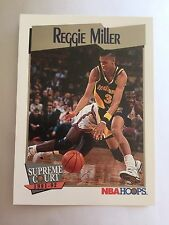 1991 NBA Hoops Supreme Basketball Card  - #469 Indiana Pacers, Reggie Miller