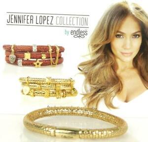 Jennifer Lopez ENDLESS Golden Reptile Single Wrap Charm Bracelet Yellow Gold Cla