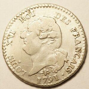 REVOLUTION : RARE 15 SOLS DE LOUIS XVI FRANCAIS 1792D LYON 2nd SEMESTRE