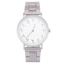 Arabic Watch Arabic Numeral Numbers Women Men Couple Wrist Watch Alloy Silver SE