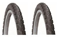 Pair Of 26x1.75 Road/Land Bike Tyres VC-2033-01 (47-559)