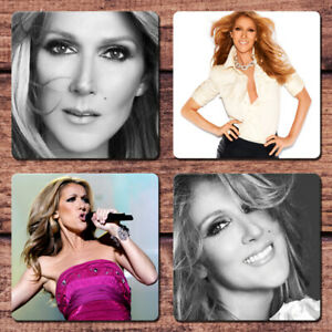 Celine Dion Coaster Set NEW Encore Un Soir My Heart Will Go On For Coffee Mug