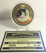 """""""UNICORN""""  43mm """"SILVER STUNNER"""" C/TOR TOKEN/COIN WITH C.O.A. 500 $50 at Mint"""