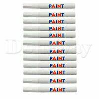 12PCS Universal Tire Pen White Permanent Car Tire Tread Rubber Paint Marker Pen