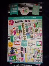 """Happy Planner """"QUOTES"""" STICKER BOOK 30pg 427pcs Motivational,Praise,Encouargment"""