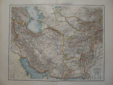 Landkarte Persien, Afghanistan und Balutschistan, Lithographie, Andrees 1897