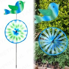 80cm Tall Decorative Colourful Bird Wind Spinner Large Garden Decoration Patio