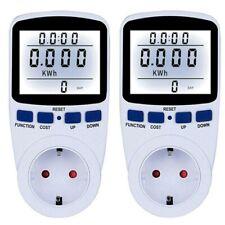 2x Digital Energiekostenmessgerät Stromverbrauchszähler Steckdose Power Meter